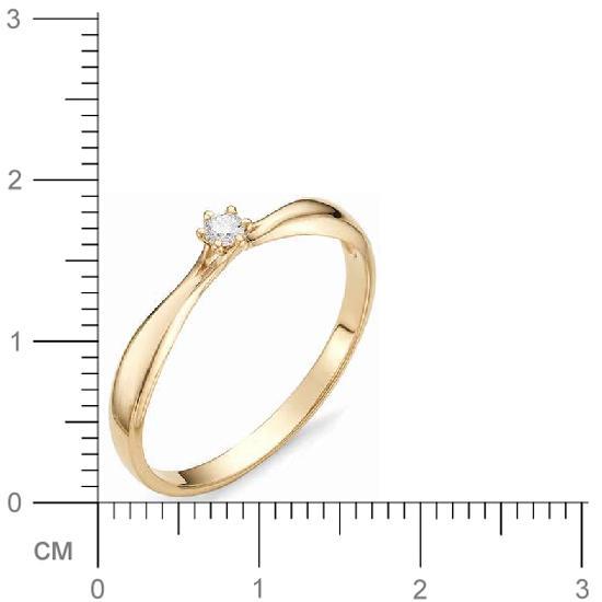 Кольцо женское АЛЬКОР 12069-100 р.17.5