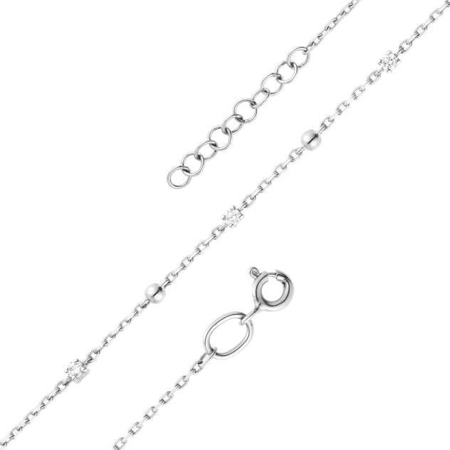 Браслет женский АЛЬКОР 53192-200 из золота, бриллиант, регулируемый