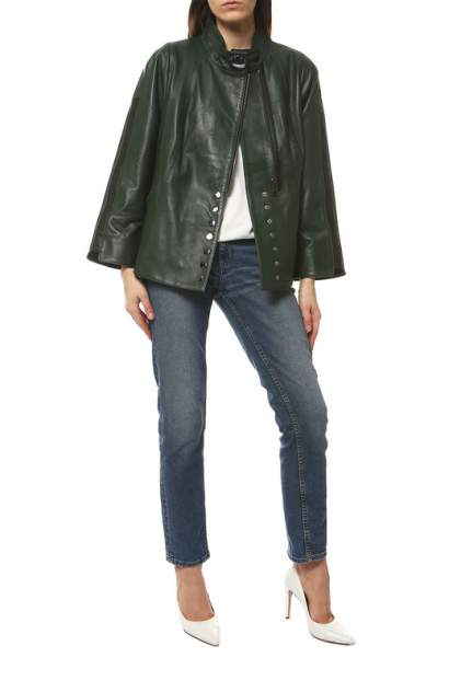 Кожаная куртка женская VITTORIO VENETO CL-1716 зеленая 52
