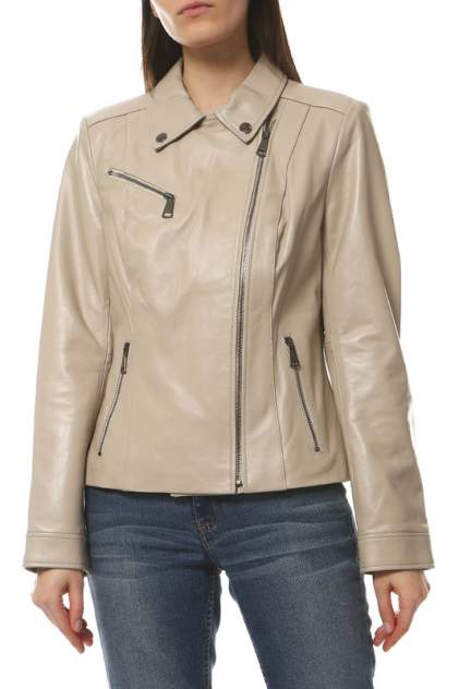 Кожаная куртка женская VITTORIO VENETO Z-6 бежевая 52