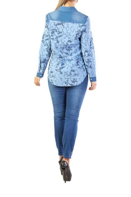 Рубашка женская LAFEI-NIER H722872-JS голубая 3XL