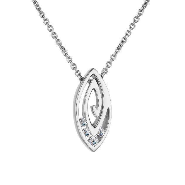 Колье женское АЛЬКОР 63418-200 из золота, бриллиант, 45 см
