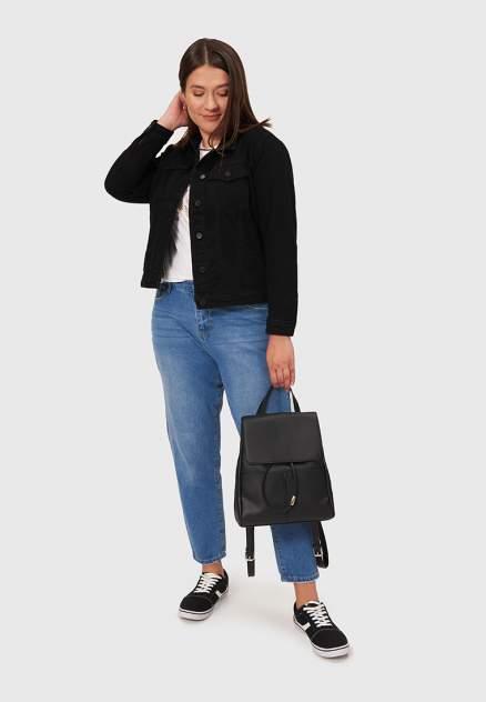 Джинсовая куртка женская Modis M202D00175 черная 52 RU