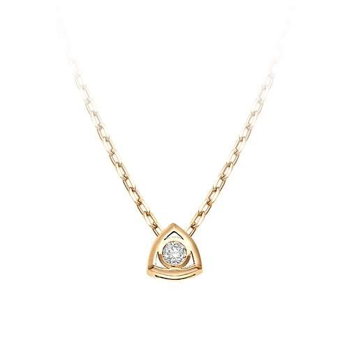 Колье женское АЛЬКОР 6090-100 из золота, бриллиант, 45 см