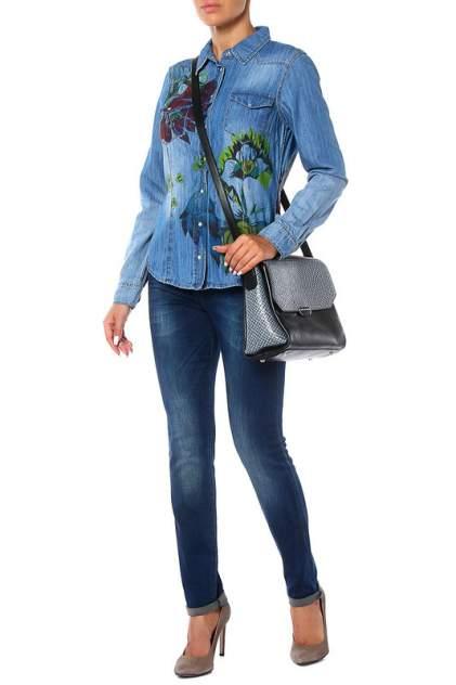 Рубашка женская Marc Aurel 91725/6305/1000 синяя 36