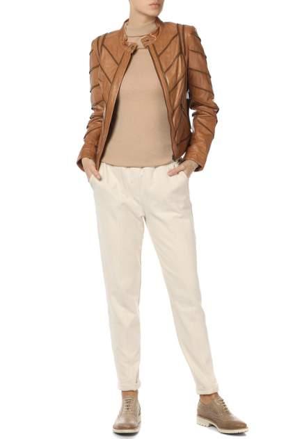 Кожаная куртка женская AMBIENTE 0221541/51 коричневая 42 RU