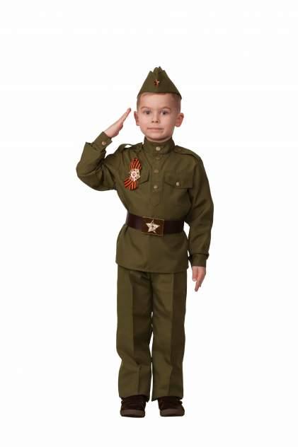 Карнавальный костюм Солдат, размер 116-60