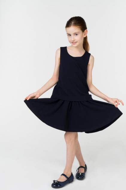 Платье для девочки Gulliver, цв.синий, р-р 122