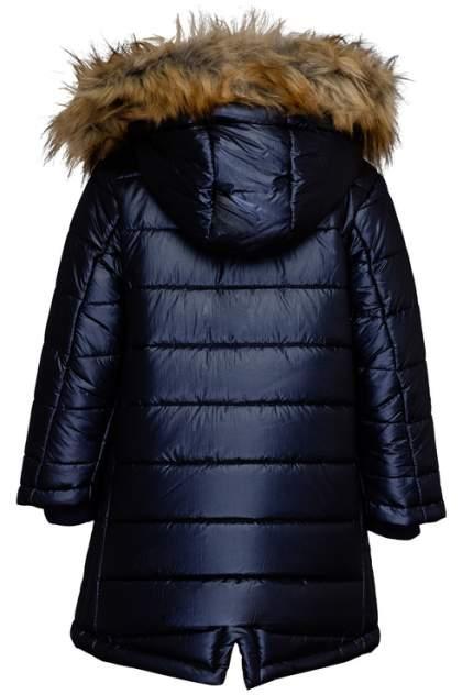 Пальто для девочки Button Blue, цв.синий, р-р 104