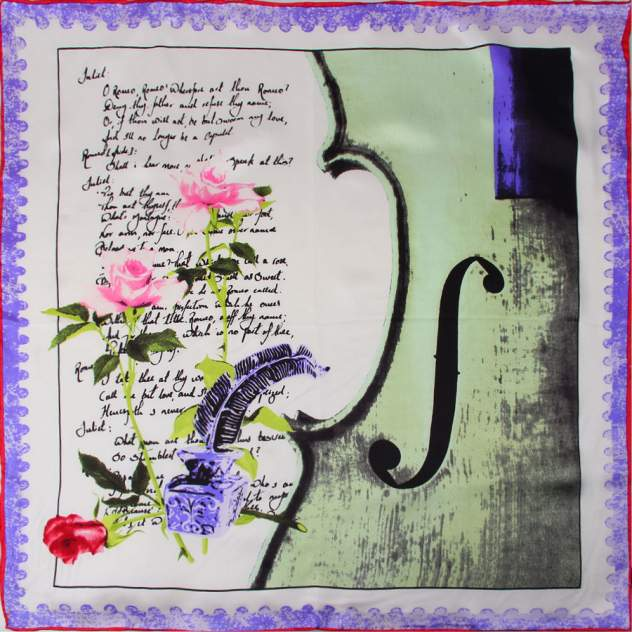 Шейный платок Venera 5603629-8 фиолетовый