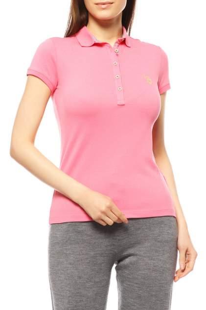 Поло женское U.S. POLO Assn. G082SZ0110RP01IY08-011 розовое 2XS