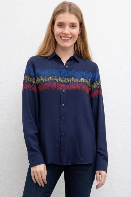 Рубашка женская U.S. POLO Assn. G082GL0040ZETOS синяя 34