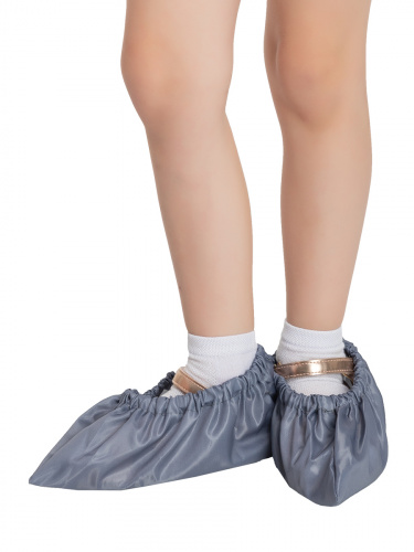 Бахилы для обуви RINIDI многоразовые детские Grey