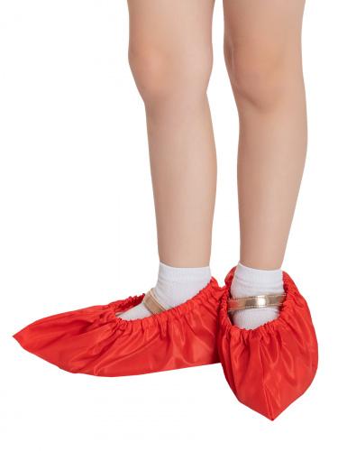 Бахилы для обуви RINIDI многоразовые детские Red