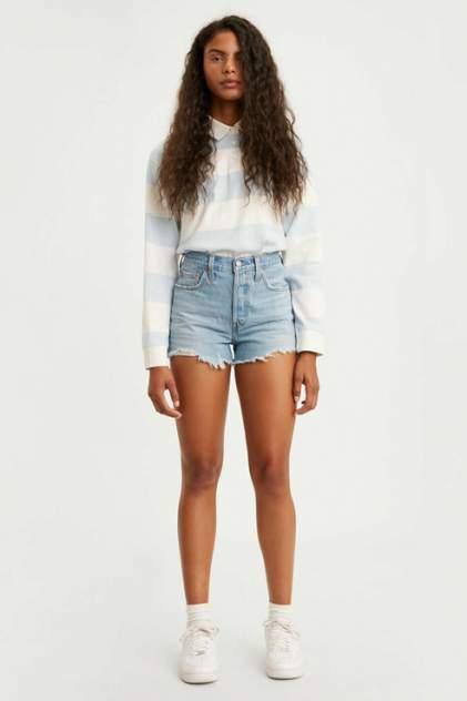 Джинсовые шорты женские Levi's 5632700860 голубые 38-40