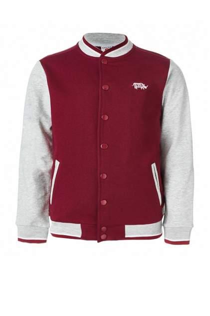 Куртка-бомбер для мальчика Button Blue, цв.красный, р-р 134