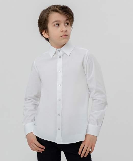 Белая приталенная рубашка BUTTON BLUE, модель 220BBBS23010200, размер 152*76*66