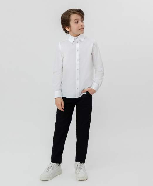 Белая приталенная рубашка BUTTON BLUE, модель 220BBBS23010200, размер 170*84*69