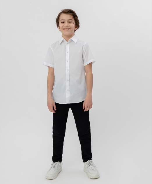 Белая рубашка с коротким рукавом BUTTON BLUE, модель 220BBBS23050200, размер 140*72*63