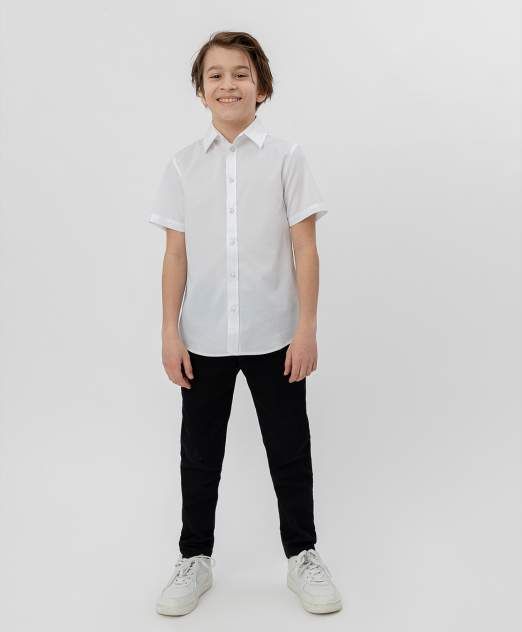 Белая рубашка с коротким рукавом BUTTON BLUE, модель 220BBBS23050200, размер 164*80*66