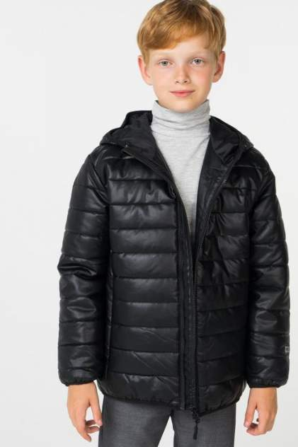 Куртка для мальчика PlayToday, цв.чeрный, р-р 134