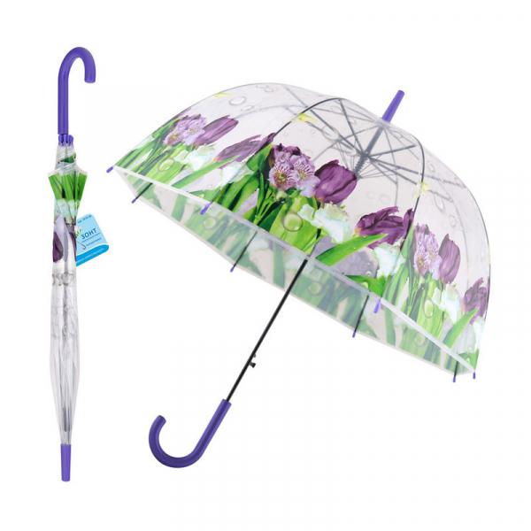 """Зонт """"Фиолетовый букет"""" (полуавтомат)"""