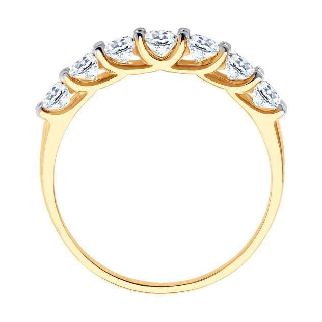 Кольцо женское SOKOLOV из золота с фианитами 017052 р.17.5