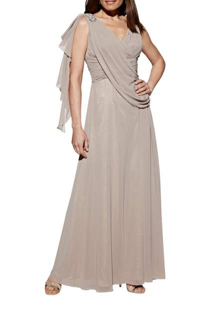 Вечернее платье женское APART 50819 коричневое 34