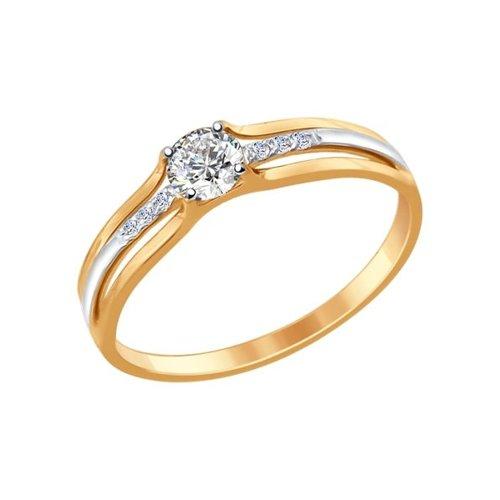 Кольцо женское SOKOLOV из золота с фианитами 017337 р.17