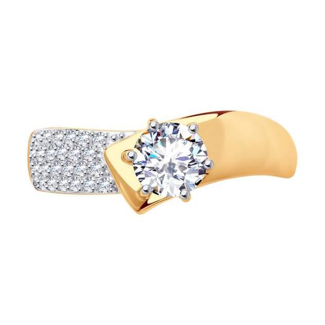 Кольцо женское SOKOLOV из золота с фианитами 017402 р.17.5