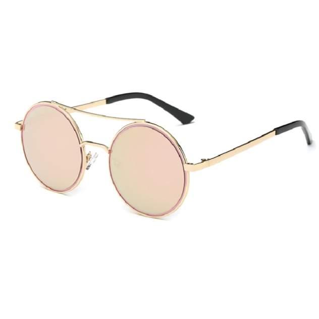Солнцезащитные очки с круглыми стеклами Kawaii Factory KW010-000298 бежевые