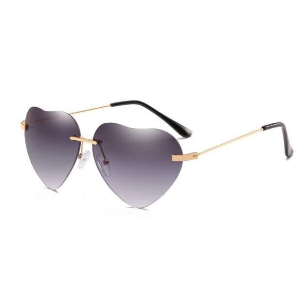Солнцезащитные очки Kawaii Factory Love is темные