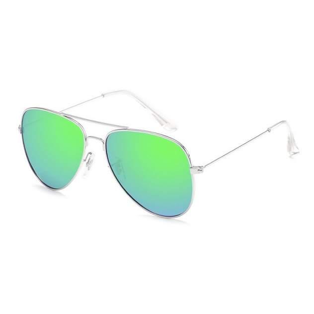 Солнцезащитные очки Kawaii Factory Градо зелено-голубые/серебро