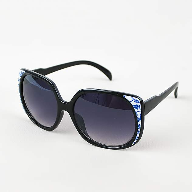 Солнцезащитные очки узорчатые Kawaii Factory MR017-000039 черные