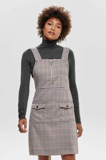 Повседневное платье женское Jacqueline de Yong 15184576 коричневое 36