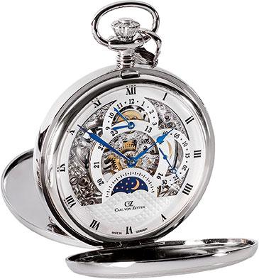 Карманные часы мужские Carl von Zeyten CVZ0041 серебристые