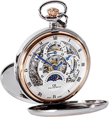 Карманные часы мужские Carl von Zeyten CVZ0040 серебристые