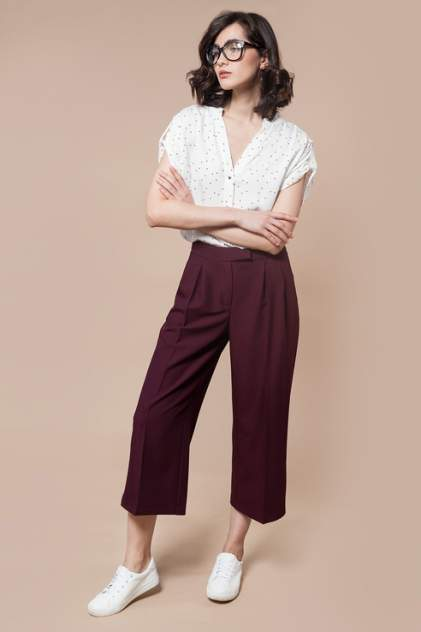 Женские брюки Vilatte D24.407, красный