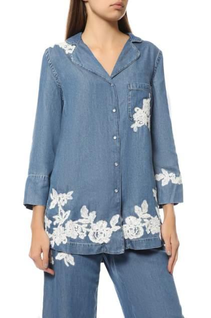 Рубашка женская Ermanno Scervino 42TCM32/00888 синяя 40