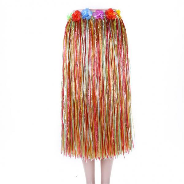 Гавайская юбка длинная Sima-land разноцветная с цветочками, 80 см