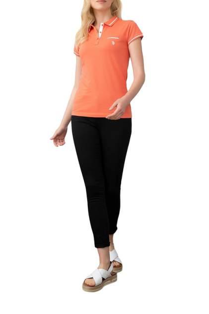 Поло женское U.S. POLO Assn. G082GL0110GLORIA-IY09 оранжевое 2XS