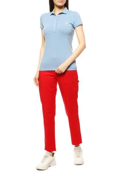 Поло женское U.S. POLO Assn. G082SZ0110RP01IY08-011 голубое 2XS