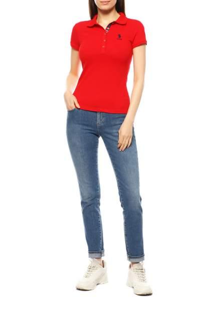 Поло женское U.S. POLO Assn. G082SZ0110TP01IY020-011 красное 2XS