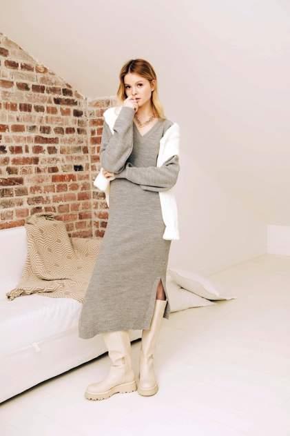 Женское платье AVEMOD AS 20816, серый