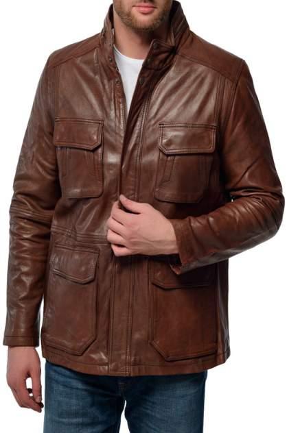 Кожаная куртка мужская XSOMA Torino Tobacco коричневая 3XL