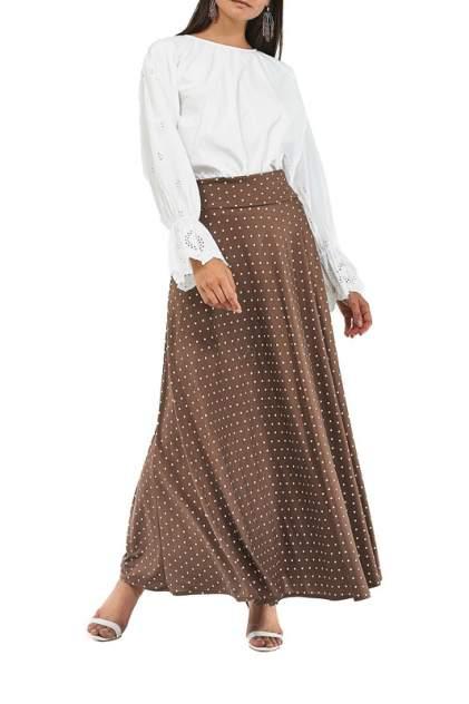 Юбка женская Alina Assi 19-501-401-BROWNPOKADOTS коричневая 4XL