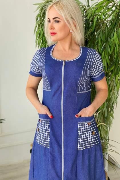 Домашний халат женский Миллена Шарм 7198, синий