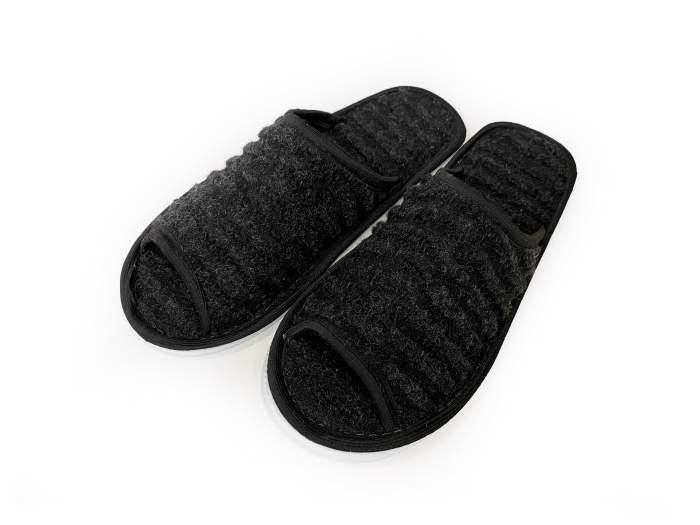 Мужские домашние тапочки Jollyjoy черный меланж, черный