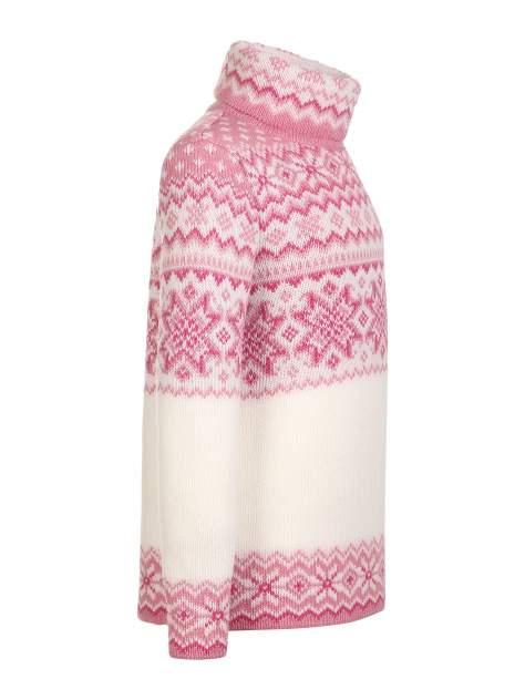 Свитер детский Scandica, 570-1-964-65-G, белый/розовый, 98-104