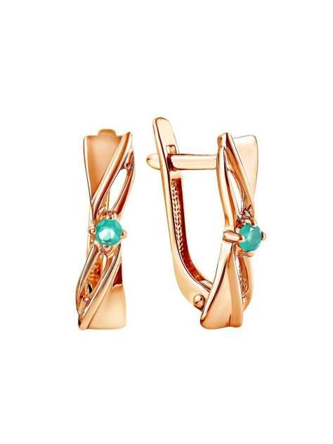 Серьги женские из серебра SamoroDki Jewelry 2-04-002-07з, агат